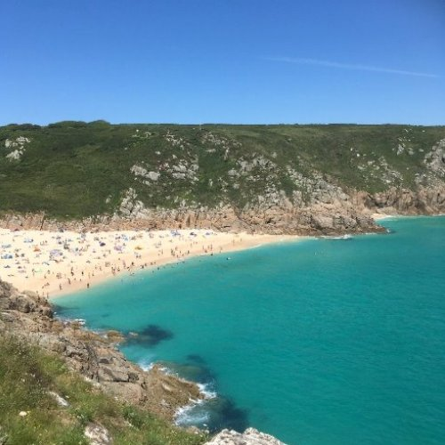 Porthcurno Beach near Land End